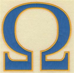 Omega Large Applique embroidery design