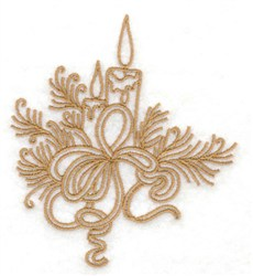 Candles & Pine Boughs embroidery design