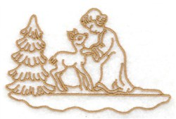 Angel & Deer embroidery design