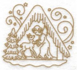 Angel & Deer & Manger embroidery design