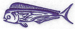 Game Fish embroidery design