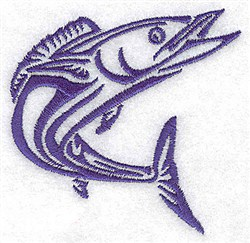 Tuna Fish embroidery design
