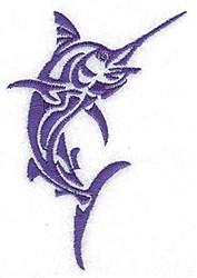 Marlin Fish embroidery design