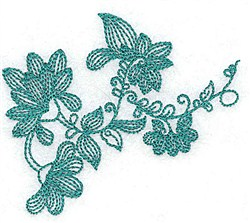 Heritage Leaf embroidery design