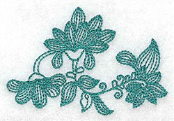 Heritage Leaves embroidery design