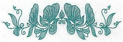 Heritage Floral embroidery design