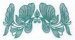 Heritage Flower embroidery design
