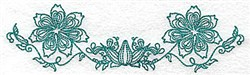 Heritage Flowers embroidery design
