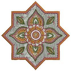 Henna Star Flower embroidery design