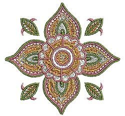 Henna Flower embroidery design