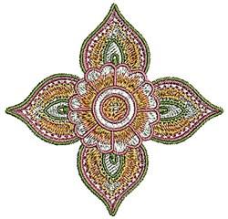 Henna Blossom embroidery design