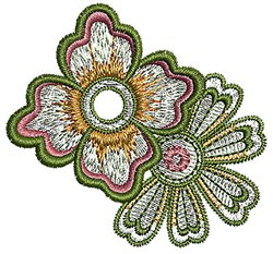 Henna Blooms embroidery design