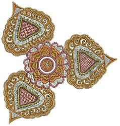 Bloom Henna embroidery design