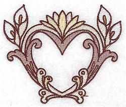 Calla Lily Heart embroidery design