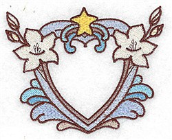 Lily Heart embroidery design