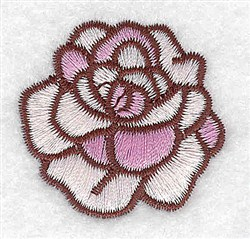 Blooming Rose embroidery design