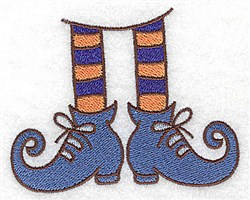 Witches Legs And Shoes embroidery design