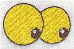 Googly Eyes embroidery design