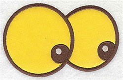 Googly Eyes Applique embroidery design