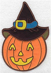 Jack O Double Applique embroidery design