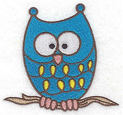 Boo!  Halloween Owl embroidery design