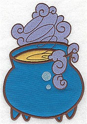 Witchs Cauldron Double Applique embroidery design