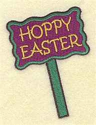 Hoppy Easter Sign embroidery design