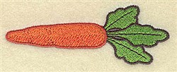 Single Carrot embroidery design