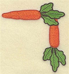 Carrot Corner embroidery design