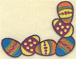 Easter Egg Corner embroidery design