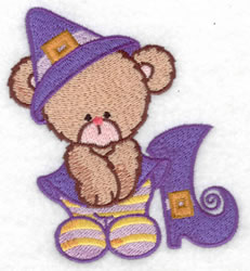 Bear Witch & Boot embroidery design