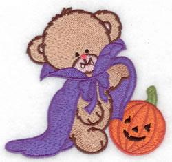 Dracula Bear embroidery design