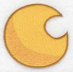 Moon embroidery design