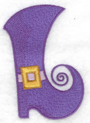 Witches Boot embroidery design