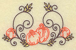 Pumpkins and Swirls embroidery design