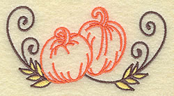 Pumpkin Design embroidery design