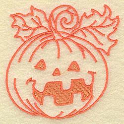 Jack O Lantern Outline embroidery design