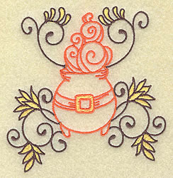 Cauldron with Swirls embroidery design