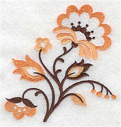 Jacobean Floral embroidery design