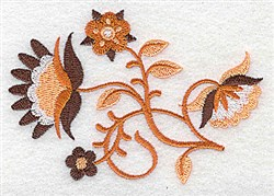Jacobean Spray embroidery design