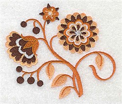 Pretty Jacobean embroidery design