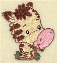 Zebra Cartoon embroidery design
