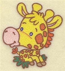 Giraffe Cartoon embroidery design