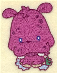 Hippo Cartoon embroidery design