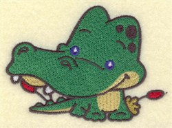 Crocodile Cartoon embroidery design