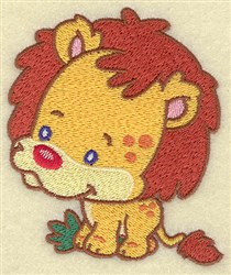 Lion Cartoon embroidery design