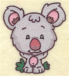 Koala Bear Cartoon embroidery design
