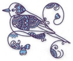 Pretty Bird embroidery design