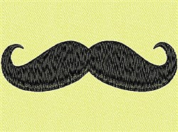 Curled Mustache embroidery design