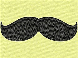 Upturned Mustache embroidery design